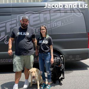 Trainer Liz and Jacob